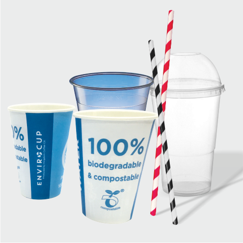 Cold Drinks Cups, Lids & Straws